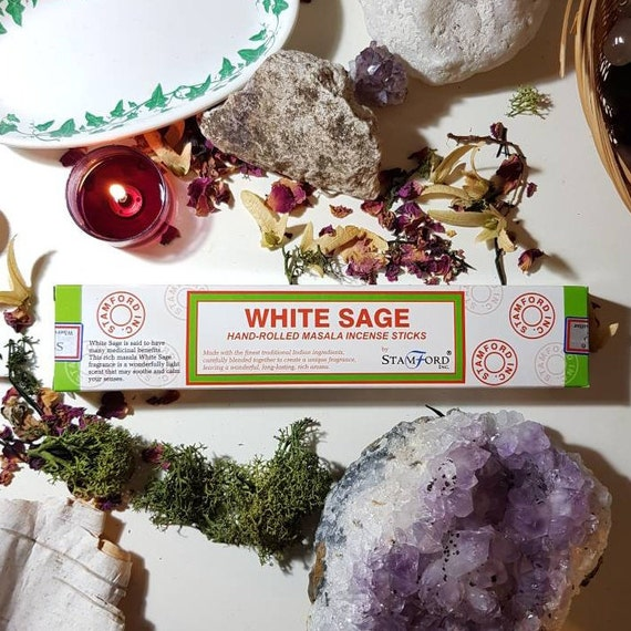 Box of fourteen stamford White Sage incense sticks