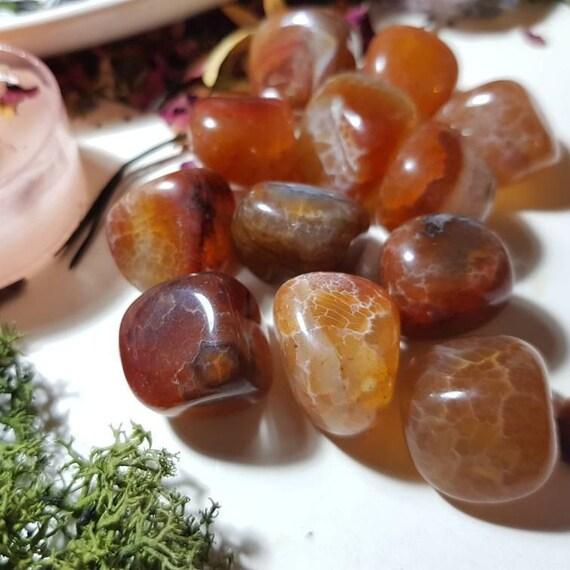 Fire Agate tumble stone