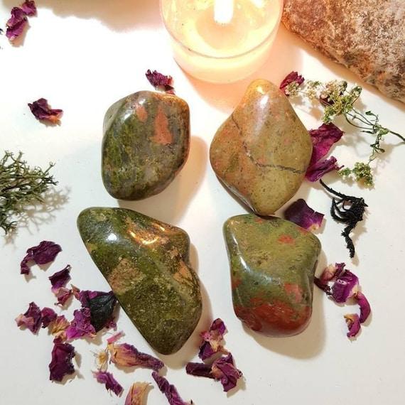 Large Unakite tumble stone