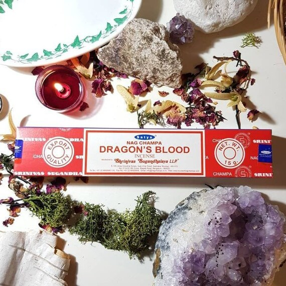 Box of fourteen Satya Dragons Blood incense sticks