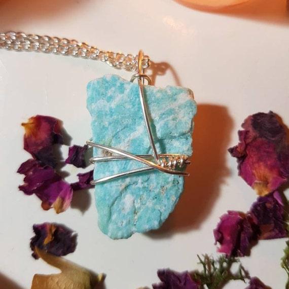Raw Amazonite necklace