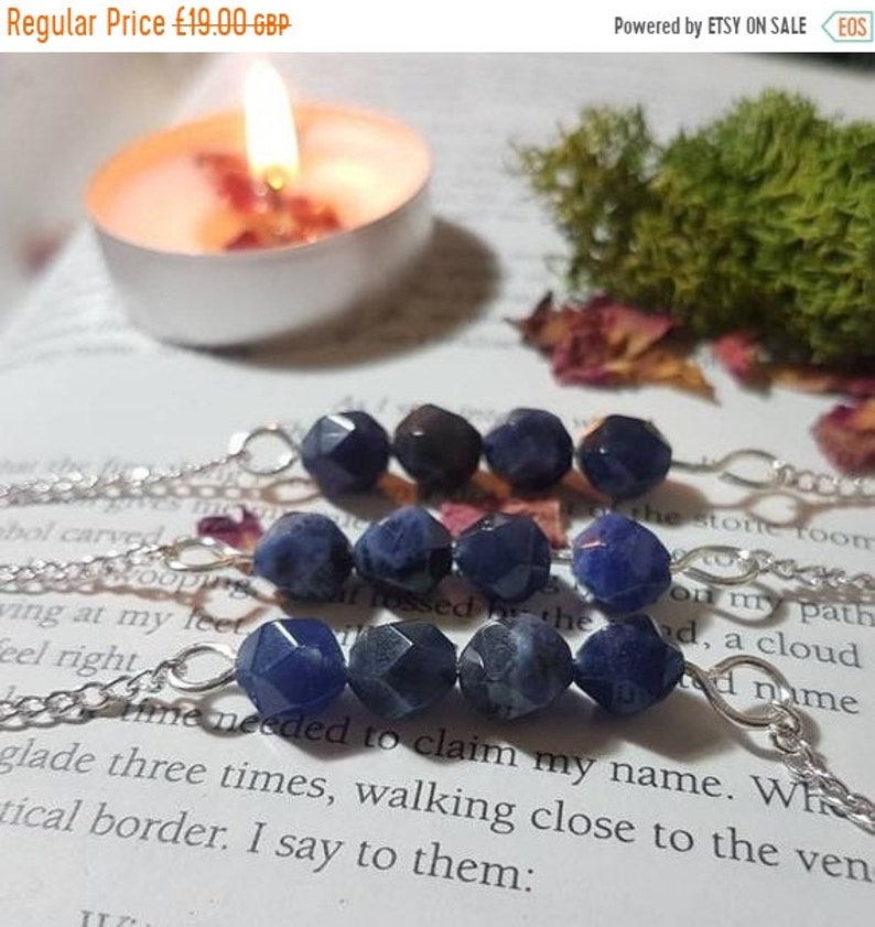 25% OFF Sodalite necklace  Sodalite  Crystal necklace  image 0