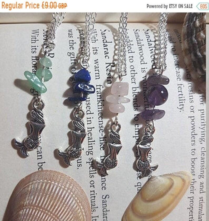 Lapis Lazuli Rose Quartz 25/% OFF Mermaid necklace Amethyst Green Aventurine