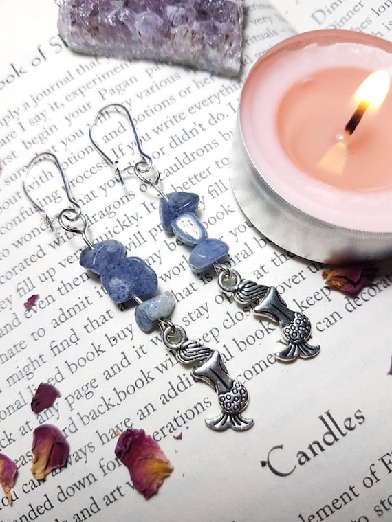 Mermaid Blue Quartz Earrings