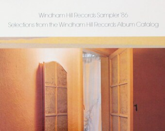 Windham Hill Record Sampler 1986 vintage vinyl Record/ 33 1/3 RPM/ Jazz Music/ 1980's music/ Instrumental music/ Adult Contemporary music