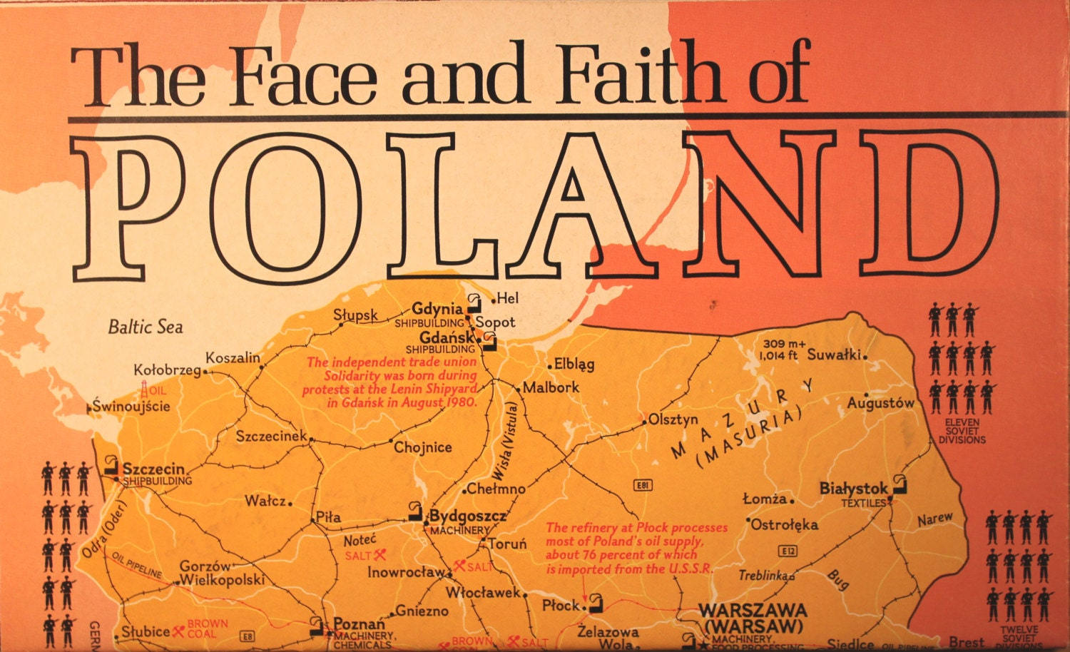 Lomza Poland Map.The Face And Faith Of Poland Map And Chart National Etsy