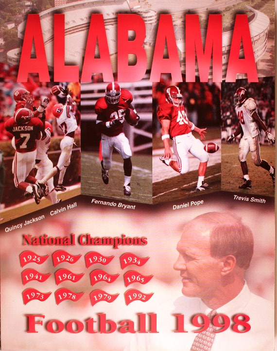 f532fbeb3 1998 Alabama Football Press Guide  Mike Dubose collectible