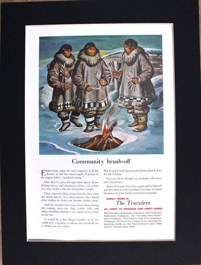 1952 Eskimo Traveler's Magazine Advertisement/vintage magazine ads/retro  ads/1950's/Cool men's gifts/Eskimos/