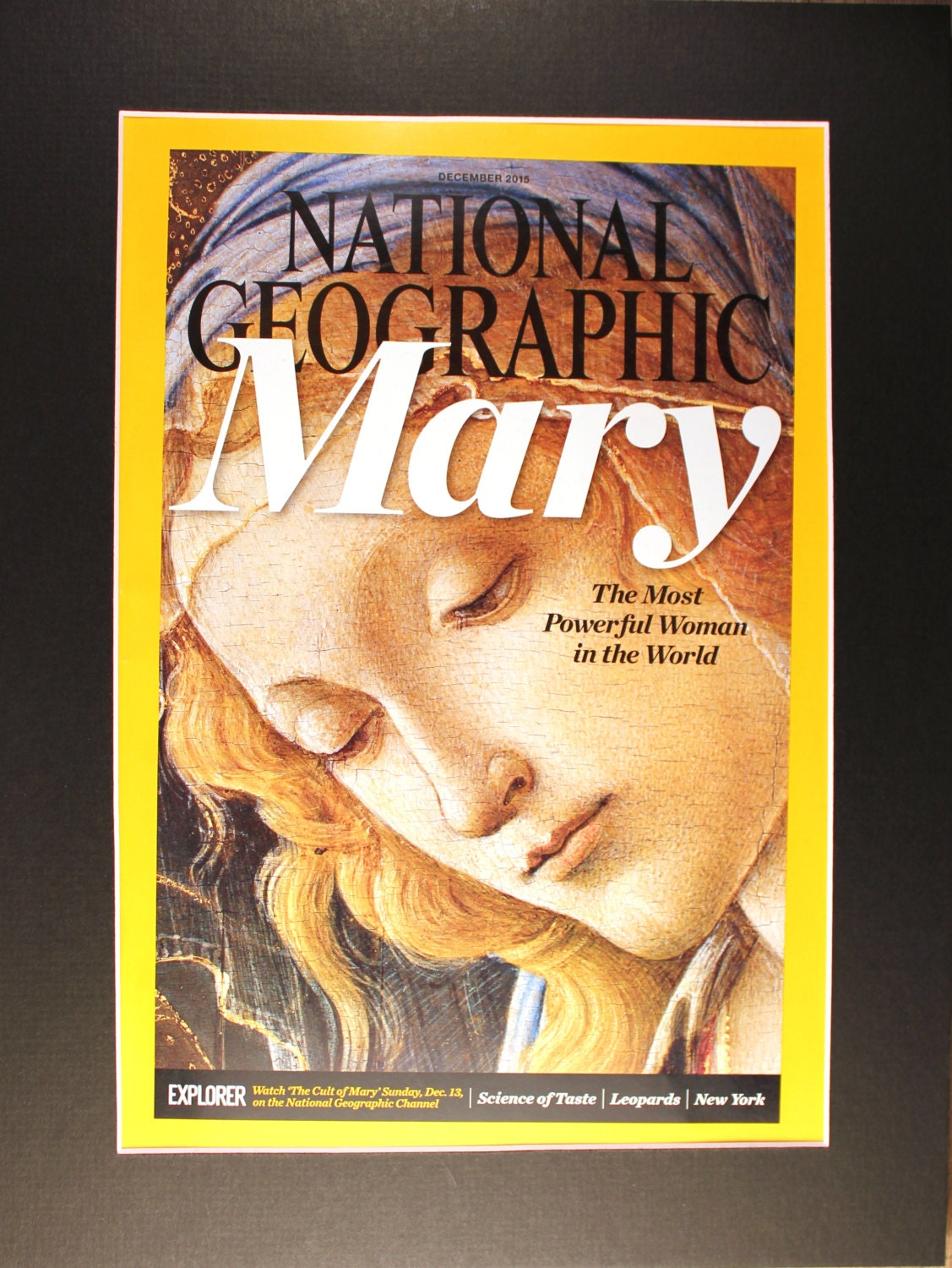 Virgin Mary National Geographic Cover with mat/ Cult of Mary/ | Etsy