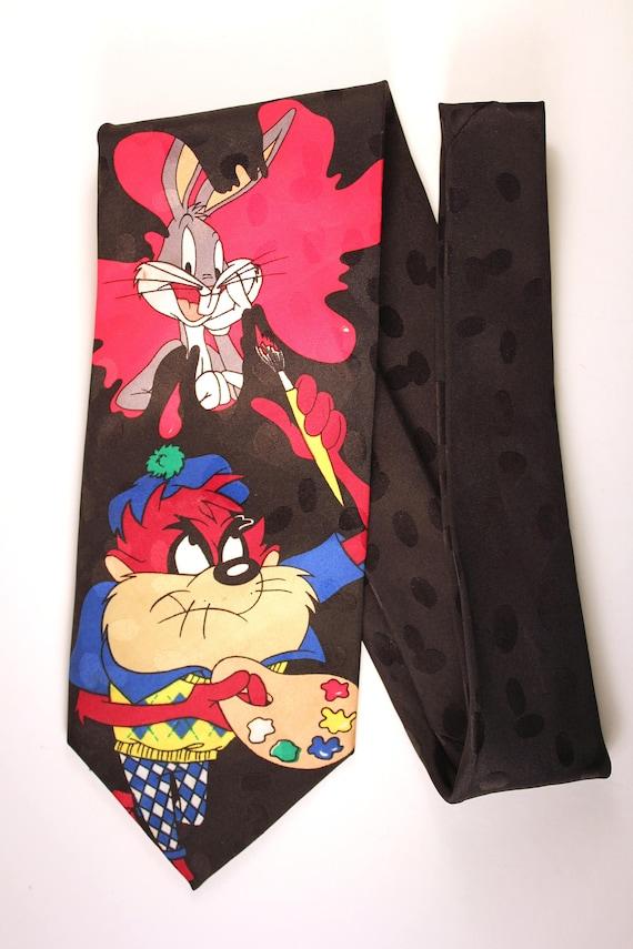 MARVIN MARTIAN All Over Warner Bros NOUVEAU! Looney Tunes Cravate RARE
