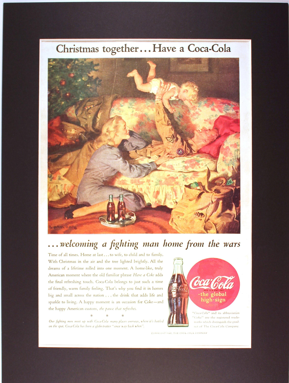 1945 Wwii American Gi Christmas Coca Cola Magazine Etsy