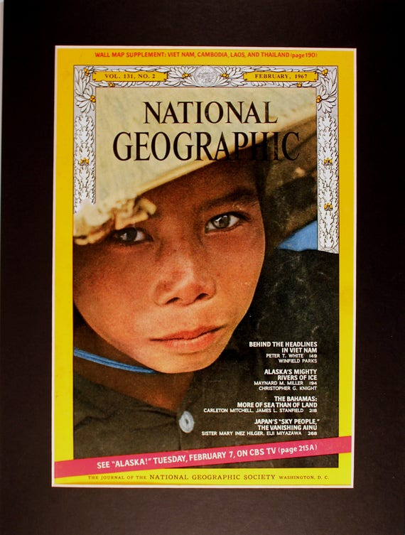 Vietnamese Girl National Geographic Cover Magazine Etsy