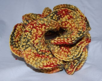 Handmade Variegated Yellow, Brown, and Green 3D Coral Decoration