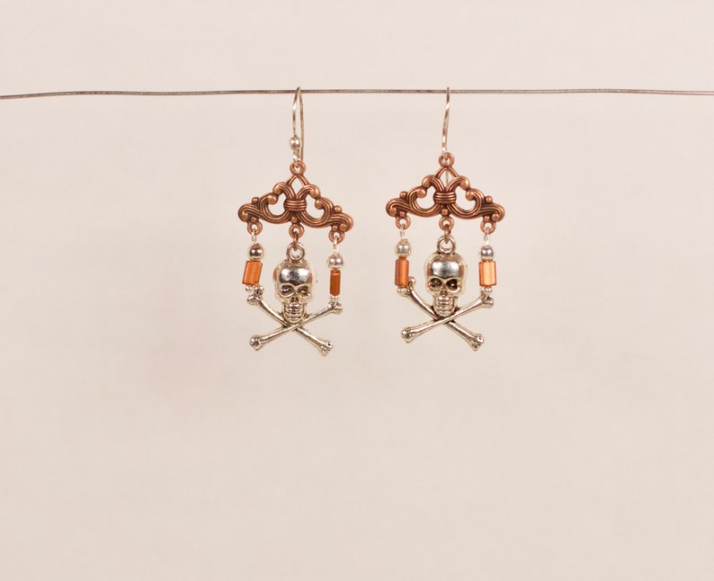 Pirate Bars Steampunk Handmade Up-cycled Earrings image 0