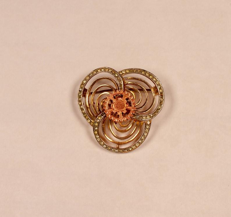 Clockwork Flower Steampunk Handmade Upcycled Brooch image 0