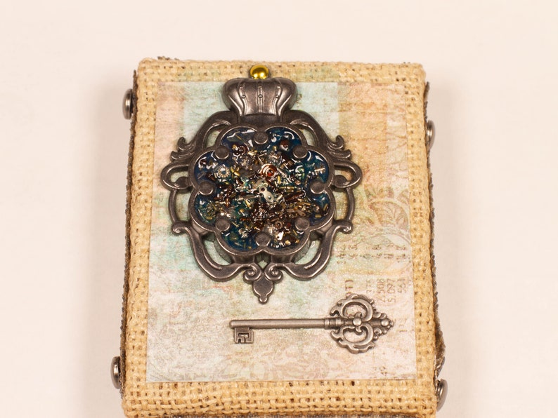 Courage and Trust Steampunk Canvas Mixed Media Art image 0