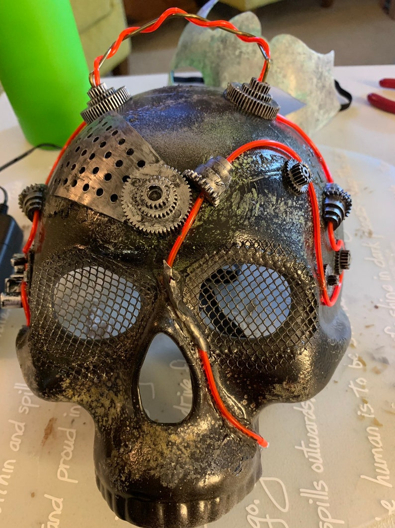 Post apocalyptic  Disel punk inspired Maurader's mask image 0