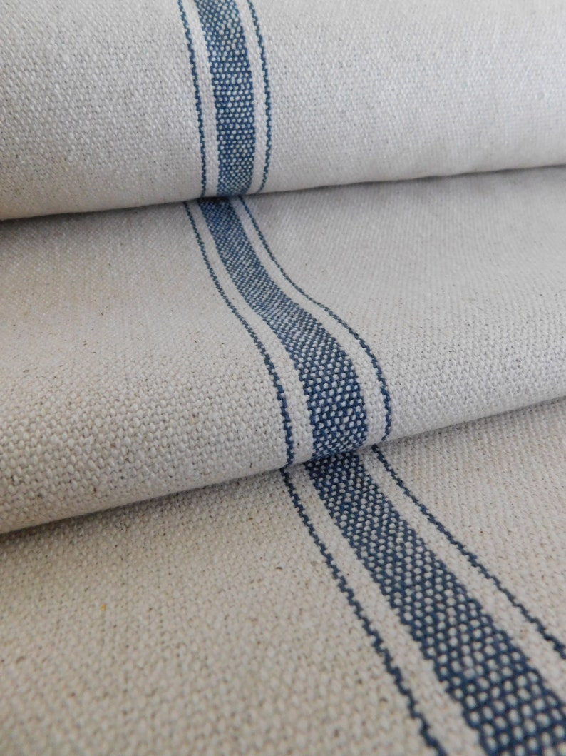 Grain Sack Fabric By The Yard Farmhouse Fabric Ticking Etsy