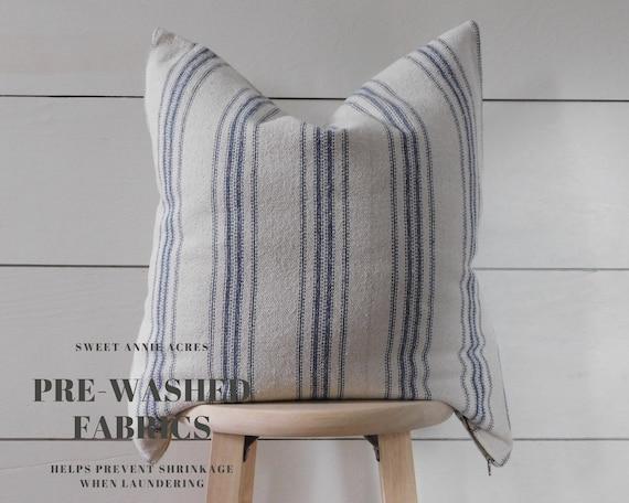 Farmhouse Grain Sack Pillow Cover