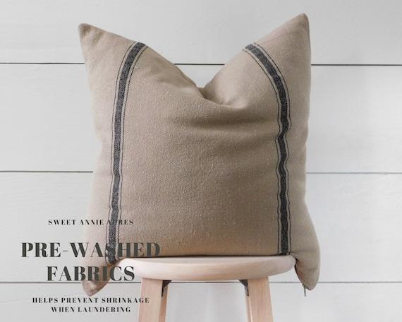 Grain Sack Pillow Cover Farmhouse