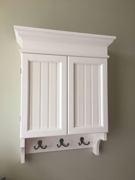 White Cabinet Bathroom Cabinet Wall Cabinet With Doors Etsy