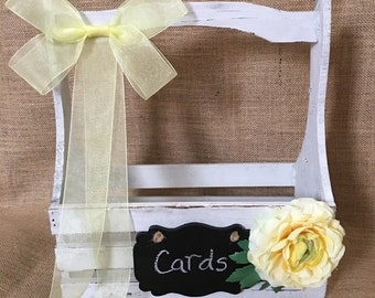 Pick your colors Shabby Chic Distressed Wedding Card Box, Card Holder, Money Box, Rustic Wedding Crate, Wedding Card Trunk, Wedding Suitcase