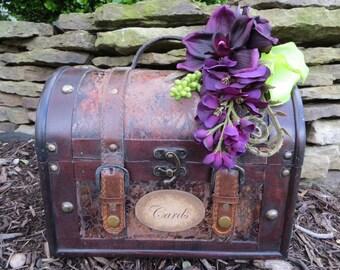 Wedding Trunk,  Wedding Card Holder, Card Box, Money Holde, Rustic Tropical Wedding,  Beach wedding, Wedding Suitcase, Rustic Wedding Trunk