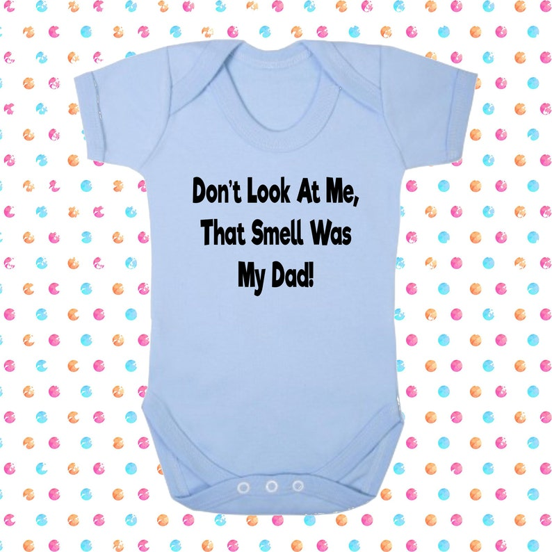 Smell is Dad Kids Toodler Funny Gift Boy Girl Shower Christening Baby Hoodie