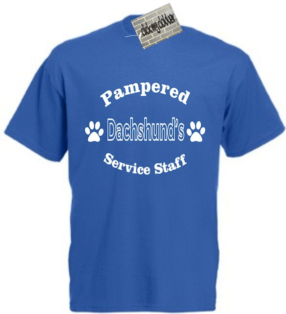 PAMPERED LABRADOR/'S SERVICE STAFF T-SHIRT Funny Dog Lover Gift Christmas Cotton
