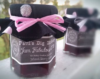 Milestone Edible Birthday Party Favor Adult Favors 70th Jam Mini Jar 80th