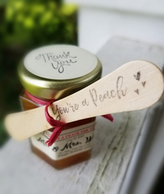 Personalized Favors For Weddings 75 Jam Favors 75 Mini Wooden