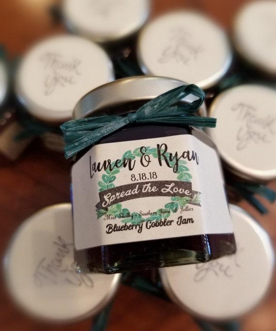 Edible Wedding Favor Mini Jam Filled Jar Personalized Party Favors