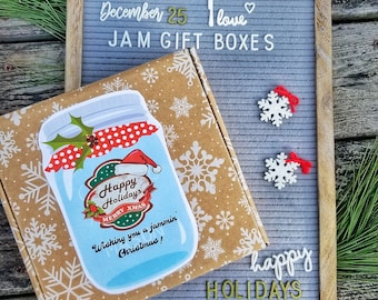 Holiday Jam Gift Box, Jam of the Month Gift Box, Jam and Biscuit Gift Set, Christmas Gift, Edible Holiday Gift, Personalized Gift Jam Box