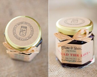 250 (1.5oz) Spread the Love Jam Wedding Favors, Personalized Edible Wedding Favors