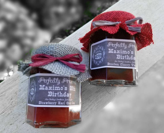 Milestone Birthday Favors Mini Jam Party Over The Hill Adult Favor 60th 70th 80th