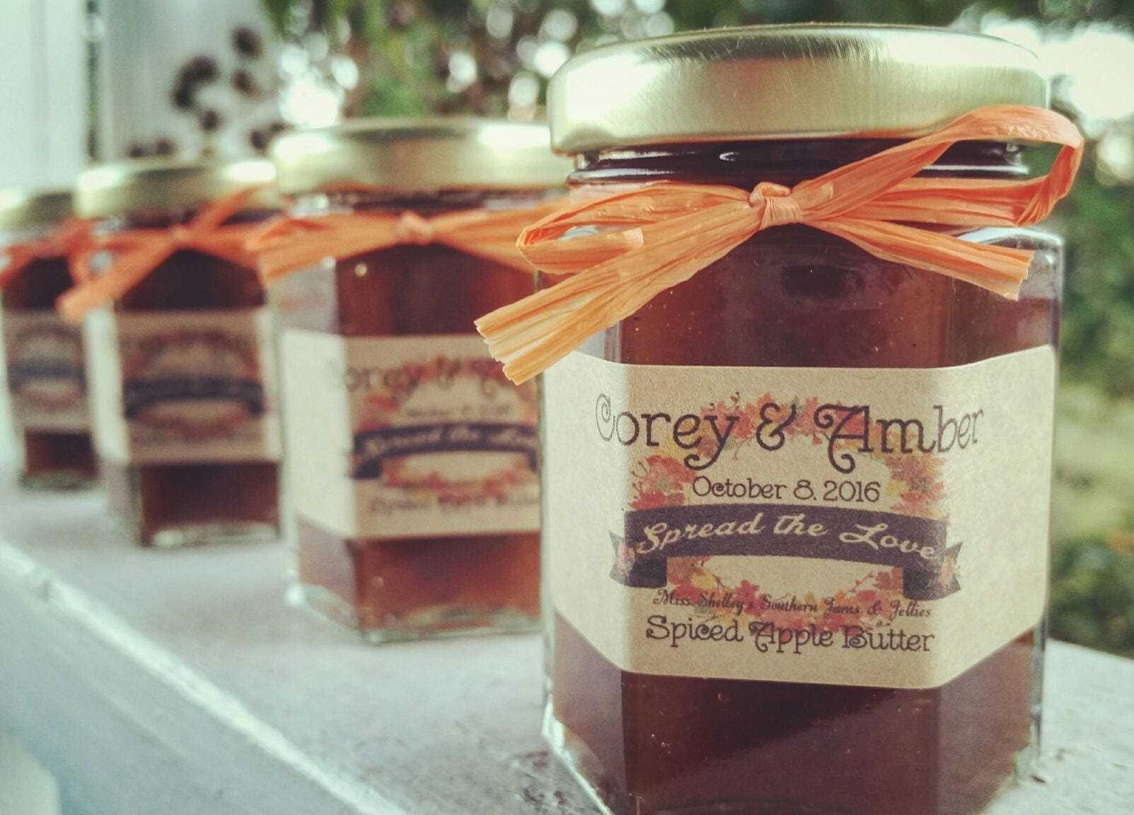 Georgia Peach Jam Favors 100 2oz Jam Jars Wedding Favors