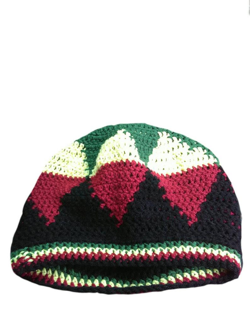 8f847b7247f64 Green star Bob Marley beanie