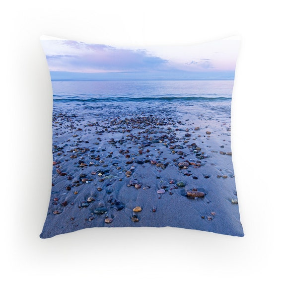 Beach Sunset Throw Pillow Cape Cod Beach Sunset Sandy Neck Etsy