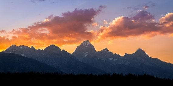Grand Teton National Park Sunset Fine Art Photography Print Etsy