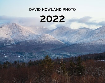 2022 New England Calendar - 12 month Cape Cod Acadia Rhode Island New Hampshire Maine photography calendar