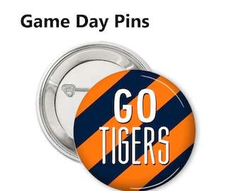 Set of 5 College LSU Tigers 1 Inch Buttons Flat Back//Pin back//Magnet//Lapel Pin