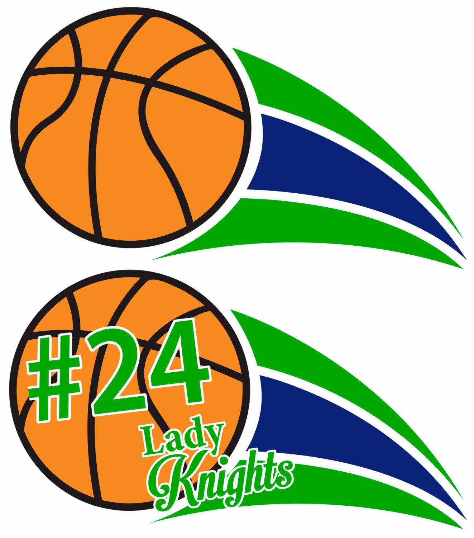 Basketball Digital Download Locker Decorations Green And Blue Swoosh