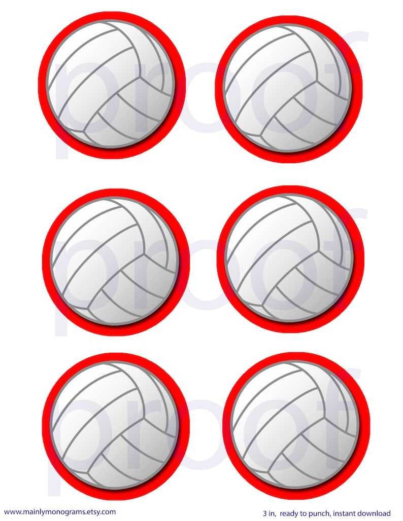 photo regarding Printable Volleyball identify 3 inch Printable Volleyball tags or labels. Pink define.