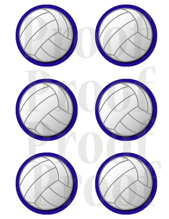 image about Printable Volleyball named 3 inch Printable Volleyball tags or labels. Royal determine.