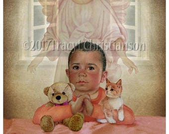 Guardian Angel/Boy (B) Fine Art Print #4311