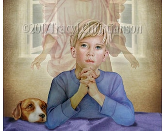 Guardian Angel/Boy  Fine Art Print #4306