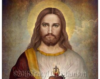 Sacred Heart of Jesus (A) Catholic Fine Art Print