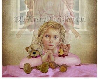 Guardian Angel/Girl Fine Art Print #4305