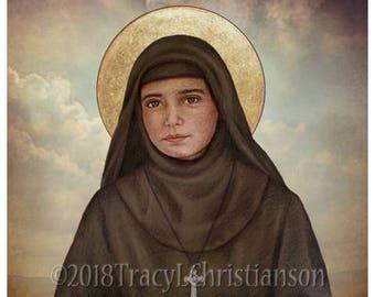 St. Rafqa Print, Catholic Art, Lebanese Maronite Nun #4329
