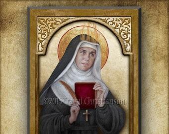 St. Hildegard of Bingen  Plaque & Holy Card Gift Set, Doctor of the Church, Patron Saint of Artists, Musicians